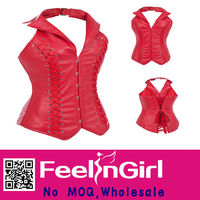 wholesale shaping red elegant tight hot girl sxxxl sexy leather corset