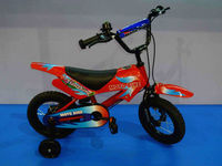 red colour hot sale children bike motorbike style with training wheel kids bicycle 12inch boys and girls ride on bike