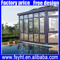 Garden aluminum glass sun room /Outdoor glass house