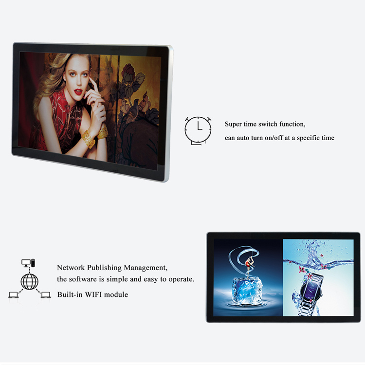 4K 28inch Built-in WIFI module Digital player Advertising Signage Player