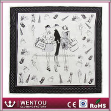 Well-Known For Its Fine Quality White Silk Scarf For Painting