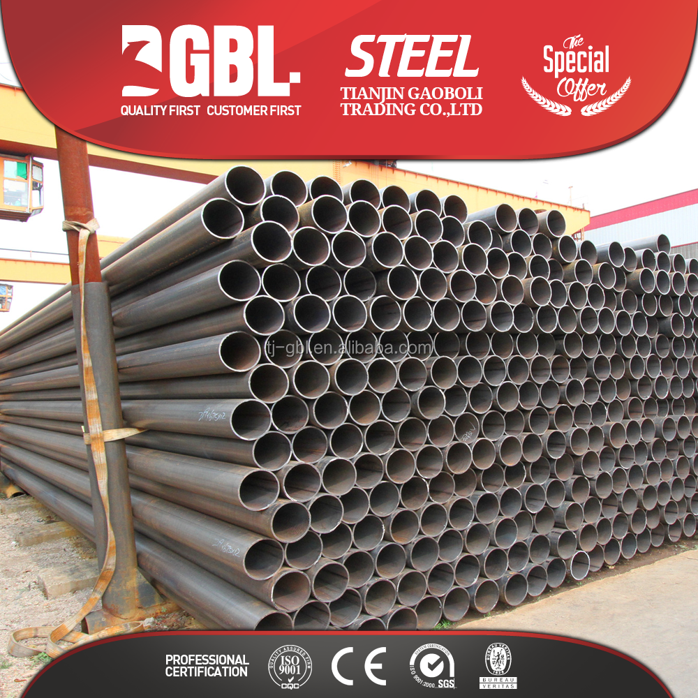 rust-proof oil coating black steel pipe for furniture