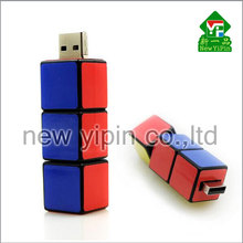 The new listing U disk three cube character rotation disk 8G new intelligence cube Rubik's cube USB flash drive