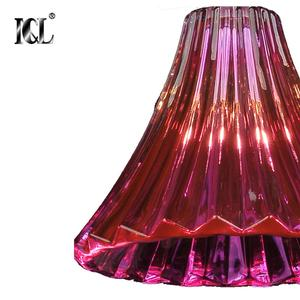 Attractive fashion single light crystal pendant chandelier baccarat red colour