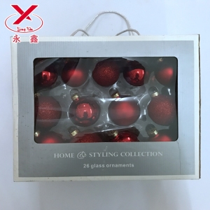 8 cm Blown/Handmade glass ornaments christmas glass ball