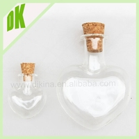 heart shape Small Tear Glass Miniature craft bottles vials wholesale New ^ 400ml high quality 750ml glass wine bottles wholesale