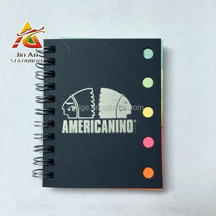 adhesive sticky note & page marker with hard cover