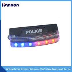 Strobe red and blue flashing shoulder lights
