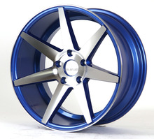 Blue concave cv7 alloy wheels