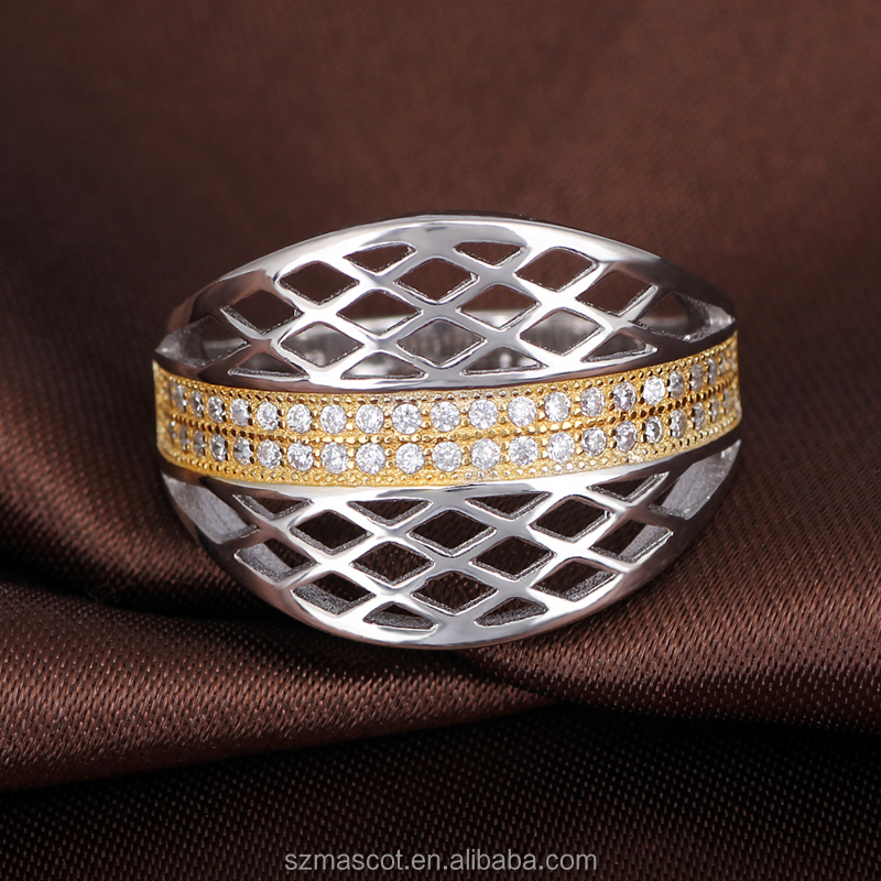 Value 925 Silver Engagement Rhodium New Gold Ring Models for Men