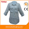 Outlets Wholesale women denim shirts China supplier