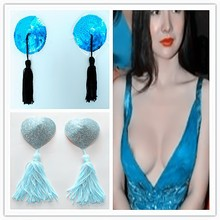Sexy Bra Breast Enhancer Reusable New Sequin Tassel Women Nipple Covers Pasties Stickers
