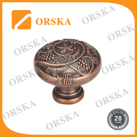 Best original country style decorative zinc cubicle knobs