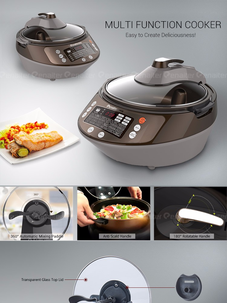 Hot Sale 30 in 1 MultiFunction Electric Multi Cooker, Automatic Stir Fry MultiCooker