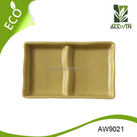 Wholesale Cheap Bamboo Fiber Soy Sauce Dish