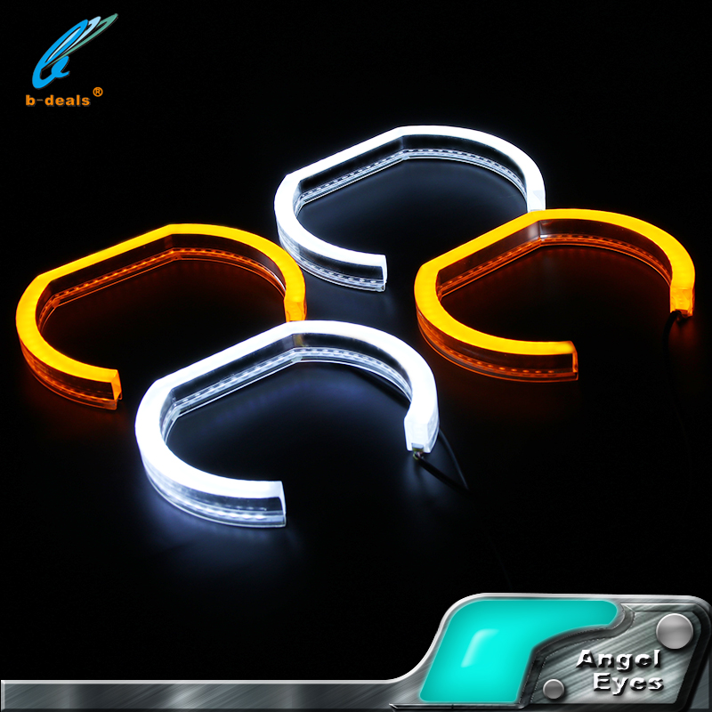 Hot!!!Contan fair Turning light dual color led angel eyes for E90 sedan 06-11 E92 coupe 07-10 smd angel eyes with thick covers