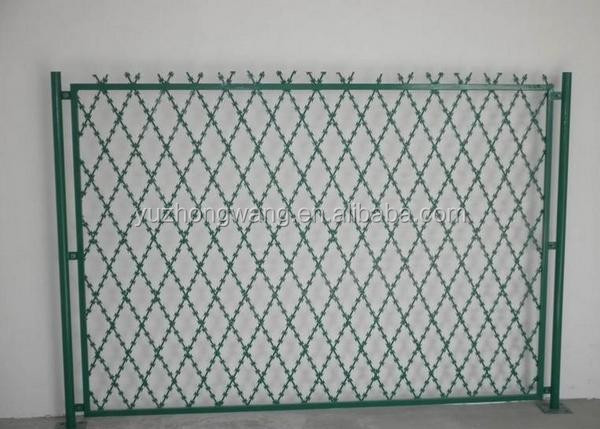 Concertina razor wire fencing, welded razor wire fencing BTO-22, CBT-65