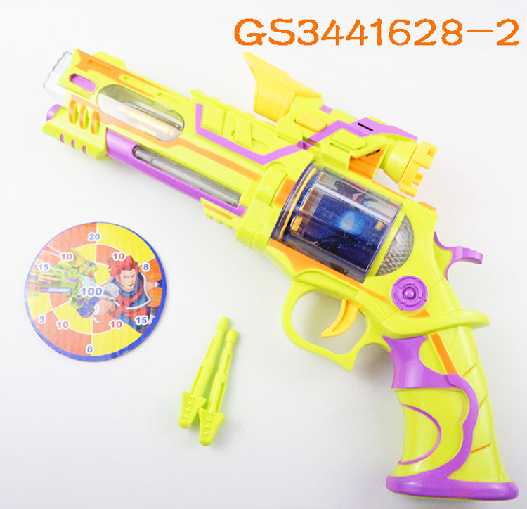 Cheap price kids gun toy interesting revolver with sound and vibration for sale GS3441628-<strong>2</strong>