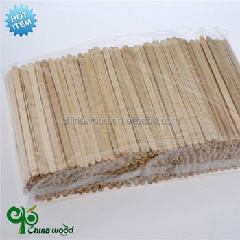 disposable wooden coffee stirrer with different sizes