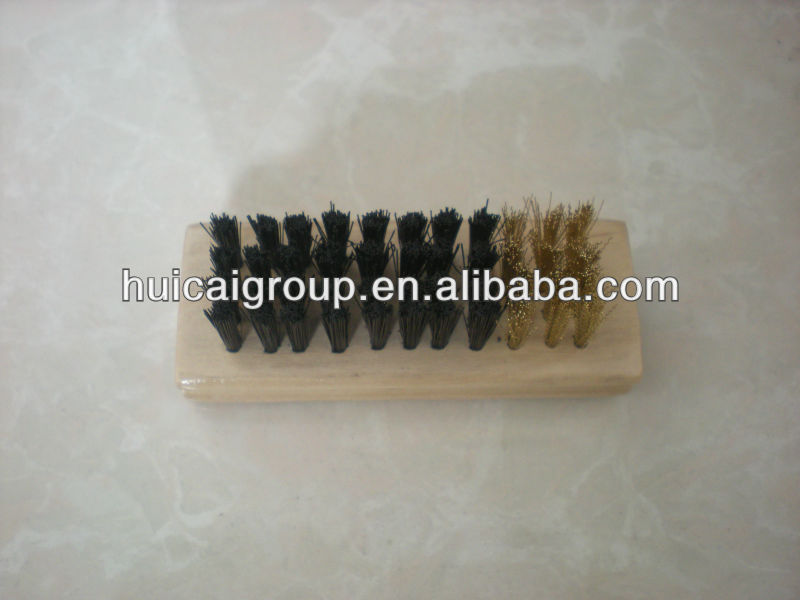Mini Wooden Suede Shoe Brush