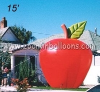 2015 inflatable apple ground balloon,giant inflatable apple N2119