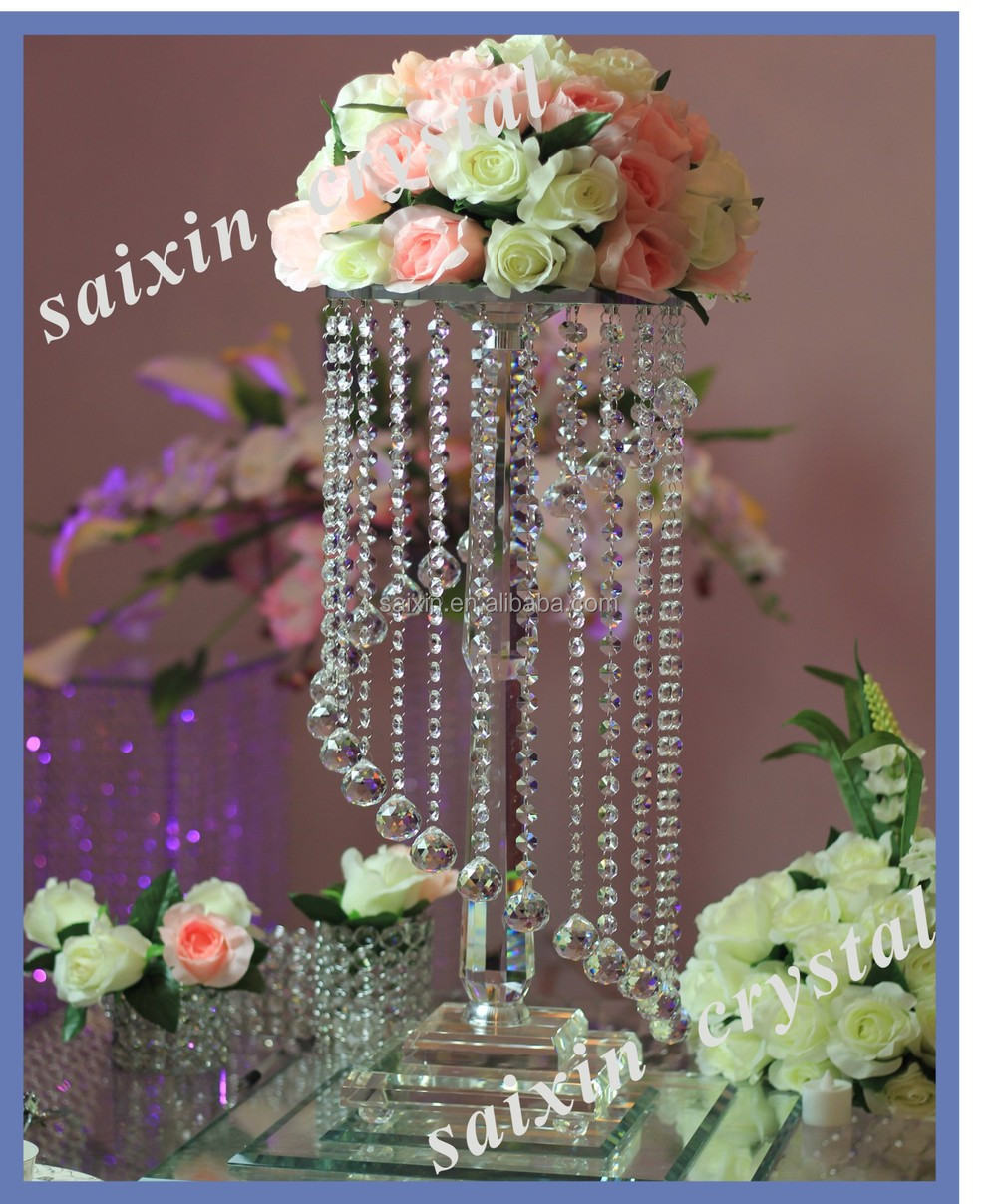 New elegant crystal flower stand wedding table