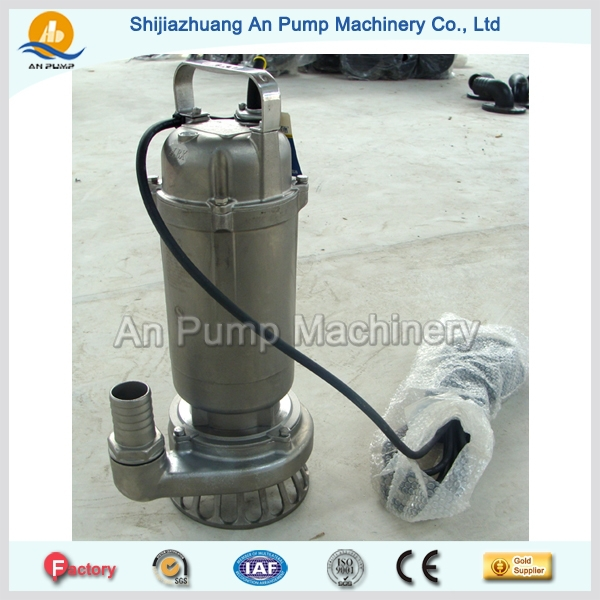 Stainless Steel Body Iron Impeller 2hp Submersible Sludge Pump