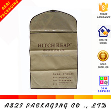 alibaba china biodegradable non woven zip lock bag for suit packing