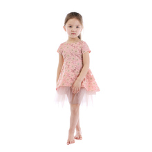 New Fancy Clothing Wholesale Kids Summer Flower Lace Dress Baby Girl Princess Party Dress