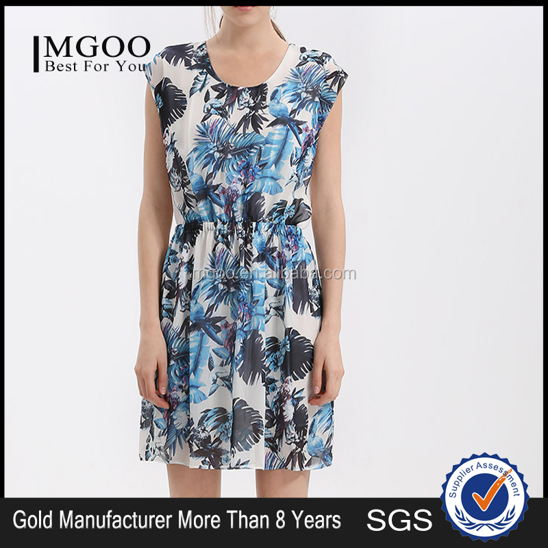 MGOO High Fashion 2015 Summer Style Vestidos Chiffon And Geoegette Dress Summer Sleeveless Dress Made In China M131SKT62