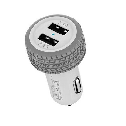 New 4.8A Dual USB Car Charger with Smart Sense IC