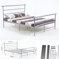 Wrought cheap double iron bed in modern design from factory