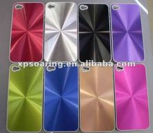 Chrome CD style hard case back cover for apple iphone 4S 4G