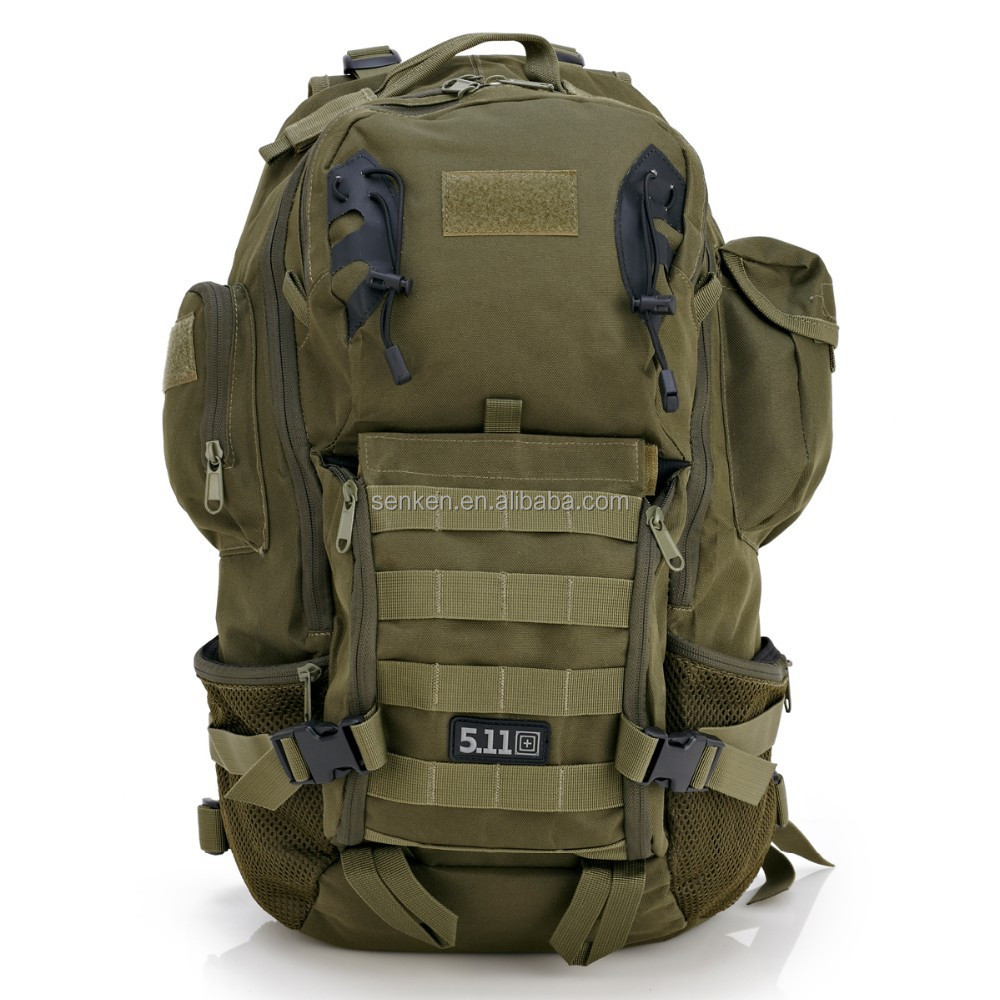 Outdoor Camping Hiking Rucksack Molle Bagpack Nylon Sport Men'S Travel Bags Military Army Tactical Bucket Mochila Male