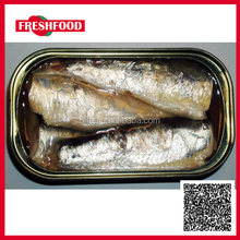 Fresh Food canned sardine 125g club can in vegetable oil