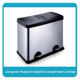 Ihouse household sorted rubbish bin stainless steel double garbage bin waste recycle bin, 60L