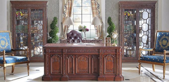 Vintage Style Office Furniture Throughout Vintage Style Home Office Furniture Carved Wooden Writing Desk With Armchair Noble Wood Veneer