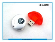 Colorful Oval Shaped Plastic Thumb USB Flash Drive, 1GB/2GB/4GB/8Gb/16GB/32GB/64GB