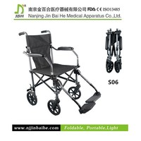 S06 Ajustable folding invalid wheelchair caster