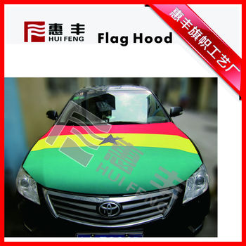 Custom Wholesale Long Term Usage Hanging Blank Auto Flags Procession Car Hood Flag