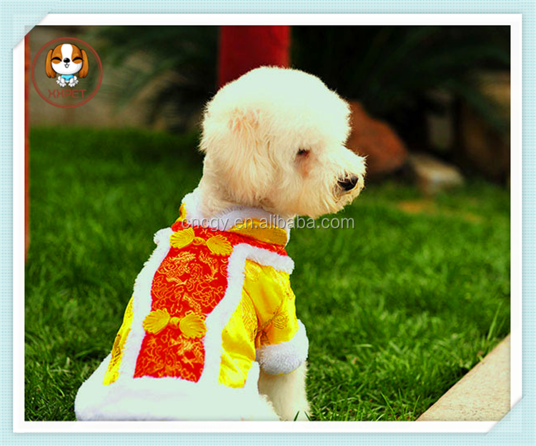 2015 Dogs Festive Tang Suit Pet Dog Clothes Festival of Chinese New Year couple costume