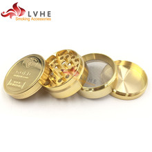 T055GZ Tolly 55MM 4 Layers Gold Custom Grinder, Herb Grinder Parts