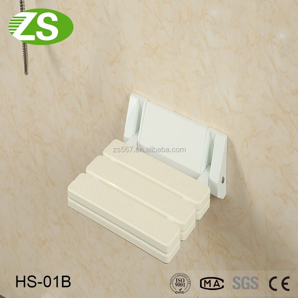 Nylon surface wall mounted safety folding up shower seat