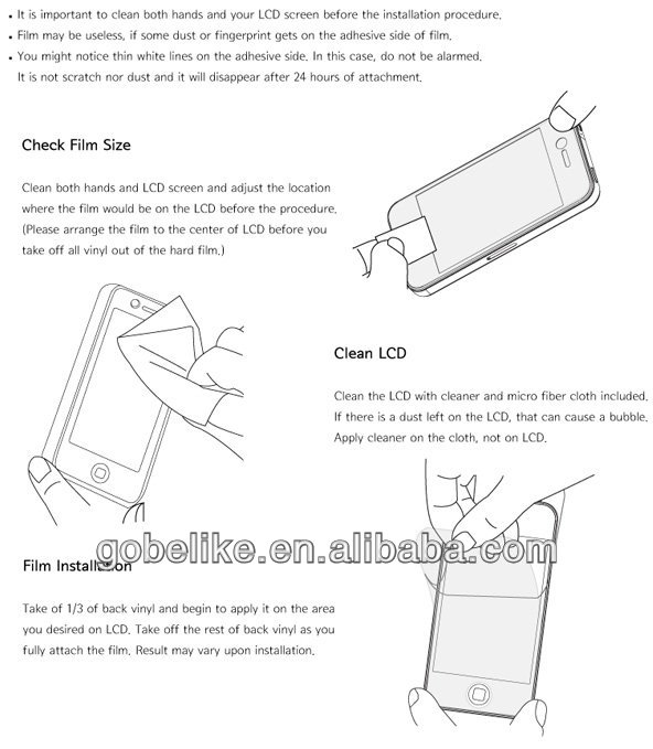 2013 for iphone 5 tempered glass screen protector