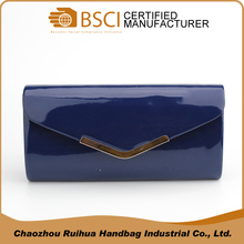 Professional design PU lady evening bag clutch from factory