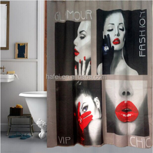 sexy girl bathing sheer bathroom curtains shower curtain with hooks