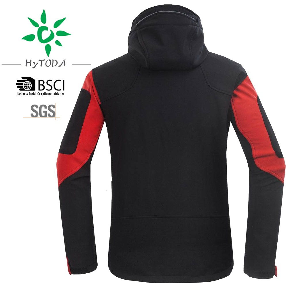 Waterproof softshell man jacket outdoor Fleece Inside