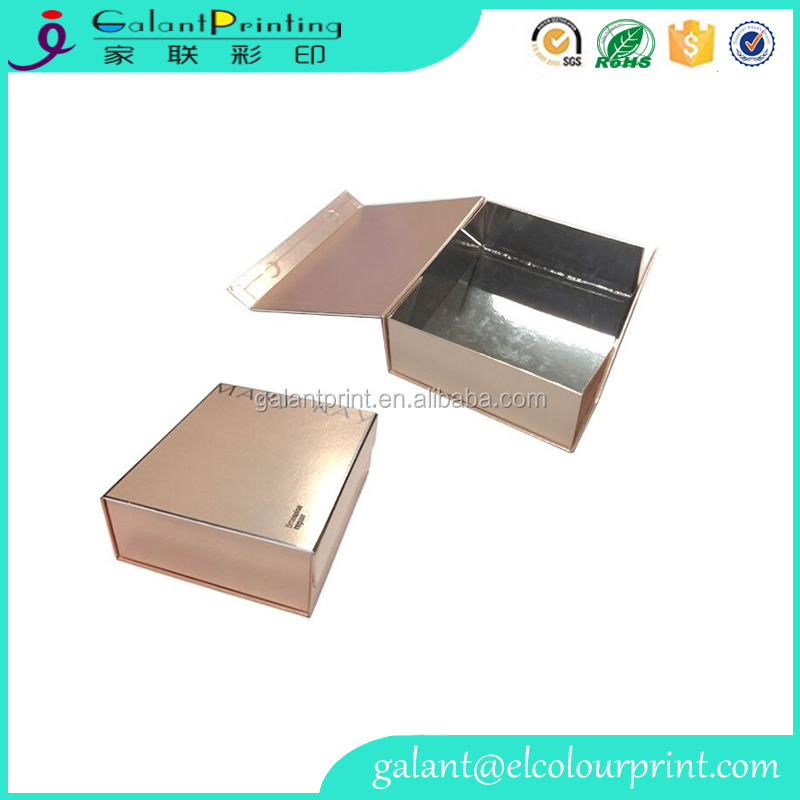 Offset printing strong matt metallic gold cosmetic packaging paper box