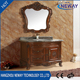 Antique style custom hotel bathroom solid wooden vanity cabinet