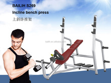 Adjustable Decline Incline Home Gym Weight Bench Press Fitness Equipment Padded Sit-Up S269 BAILIH